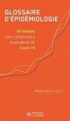 Dernières parutions sur Maladies infectieuses - Parasitologie, Glossaire d'épidémiologie