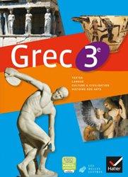Dernières parutions sur Méthodes de langue, Grec 3e : Manuel de l'Élève