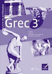 Dernières parutions sur Méthodes de langue, Grec 3e : Livre du Professeur