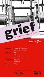 Dernières parutions sur Revues de droit et justice, Grief N° 7/1/2020