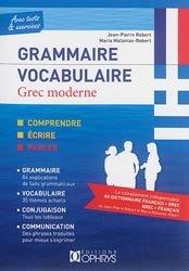 Souvent acheté avec Méthode de Grec Moderne, le Grammaire vocabulaire grec moderne