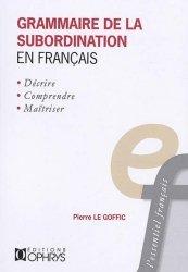 Dernières parutions dans L'essentiel français, Grammaire de la subordination