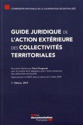 Dernières parutions sur Collectivités locales, Guide juridique de l'action extérieure des collectivités territoriales