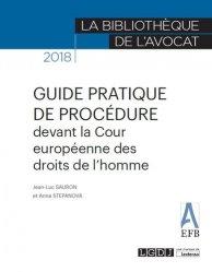 Dernières parutions dans La bibliothèque de l'avocat, Guide pratique de procédure devant la Cour Européenne des Droits de l'Homme. Edition 2018