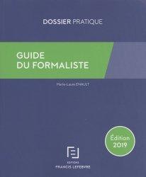 Nouvelle édition Guide du formaliste. Edition 2019