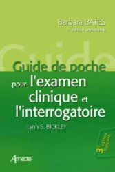 Dernières parutions sur Sémiologie - Examen clinique - Diagnostics, Guide de poche pour l'examen clinique et l'interrogatoire