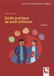 Dernières parutions sur Responsabilité médicale, Guide pratique de droit infirmier