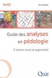 Souvent acheté avec L'aventure de la biodiversité, le Guide des analyses en pédologie
