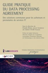 Dernières parutions sur Autres ouvrages de droit des affaires, Guide pratique du Data Processing Agreement