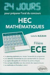 Dernières parutions dans 24 jours pour préparer l'oral du concours, HEC - Mathématiques
