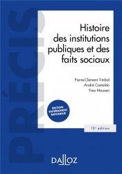 Dernières parutions dans Précis Dalloz, Histoire des institutions publiques et des faits sociaux