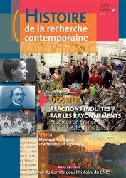 Dernières parutions sur Chimie et culture, Histoire de la recherche contemporaine, n° 1 (2017)