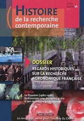 Dernières parutions sur Agronomie, Histoire de la recherche contemporaine t.6/2