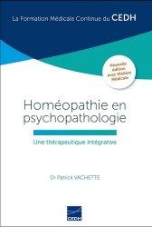 Dernières parutions sur Spécialités médicales, Homéopathie en psychopathologie