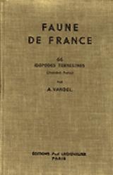 Dernières parutions dans Faune de France, Isopodes terrestres (Deuxième partie)
