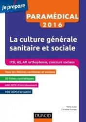 Nouvelle édition IFSI-AS-AP 2016 La culture générale sanitaire et sociale