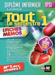 Nouvelle édition IFSI Tout le semestre 1 en fiches mémos - Diplôme infirmier