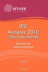 Souvent acheté avec Nouveau concours IFSI, le IFSI Annales 2010