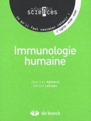 Souvent acheté avec La génétique en  1001 QCM, le Immunologie humaine