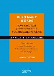 Dernières parutions sur Vocabulaire, IN SO MANY WORDS 200 EXERCICES POUR MIEUX
