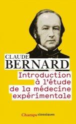 Dernières parutions dans Champs, Introduction à l'étude de la médecine expérimentale