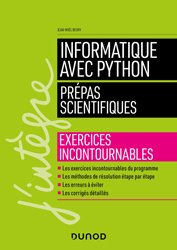 Dernières parutions dans J'intègre, Informatique avec Python - Prépas scientifiques