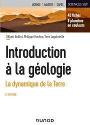 Dernières parutions sur Sciences de la Terre, Introduction à la géologie