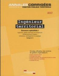 Ingénieur territorial 2017 Concours spécialités I - Annales
