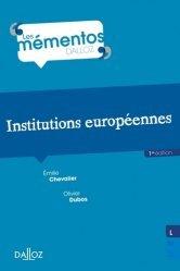 Dernières parutions dans Mémentos Dalloz. Série Droit public, Institutions européennes