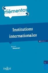 Dernières parutions dans Mémentos Dalloz. Série Droit public, Institutions internationales. 20e édition