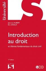 Dernières parutions sur Introduction au droit civil, Introduction au droit et thèmes fondamentaux du droit civil. 17e édition