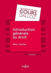 Dernières parutions sur Introduction historique au droit, Introduction générale au droit. 13e édition