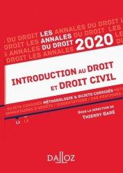 Dernières parutions sur Introduction au droit civil, Introduction au droit et droit civil. Méthodologie & sujets corrigés, Edition 2020