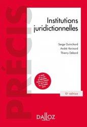 Dernières parutions dans Précis Dalloz, Institutions juridictionnelles. 15e édition