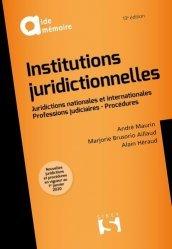 Dernières parutions dans Aide-mémoire, Institutions juridictionnelles