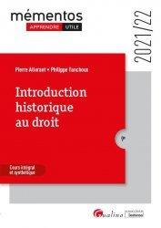 Nouvelle édition Introduction historique au droit