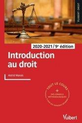 Dernières parutions dans Vuibert Droit, Introduction au droit