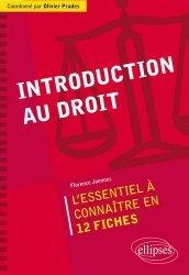 Nouvelle édition Introduction au droit