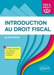 Dernières parutions sur Droit fiscal, Introduction au droit fiscal