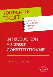 Dernières parutions sur Droit constitutionnel, Introduction au Droit constitutionnel