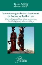 Dernières parutions sur Agriculture dans le monde, Innovations agricoles dans la commune de Banfora au Burkina Faso