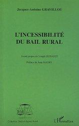 Dernières parutions dans Droit et Espace Rural, Incessibilité du bail rural