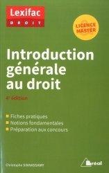 Dernières parutions sur Introduction historique au droit, Introduction générale au droit. 4e édition