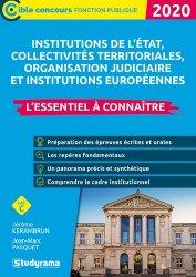 Dernières parutions dans Concours fonction publique, Institutions de l'état, collectivités territoriales, organisation judiciaire. Edition 2020