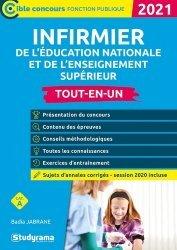 Dernières parutions dans Concours fonction publique, Infirmier de l'Education nationale et de l'enseignement supérieur. Edition 2021