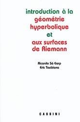 Dernières parutions dans Enseignement des mathématiques, Introduction à la Géométrie Hyperbolique et aux surfaces de Riemann