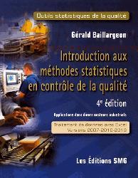 Dernières parutions sur Maths pour l'économie, la gestion et la finance, Introduction aux methodes statistiques en controle de la qualite + cd-rom