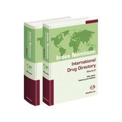 Dernières parutions sur Toxicologie, Index Nominum International drug directory