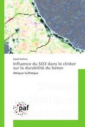 Influence du SO3 dans le clinker sur la durabilité du béton