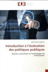 Dernières parutions sur Politiques publiques, Introduction à l'évaluation des politiques publiques